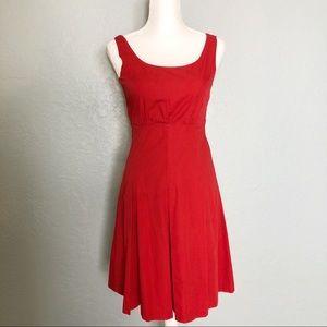 Anthropologie Viola Red Dress